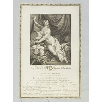 Print - The Death of Lucretia