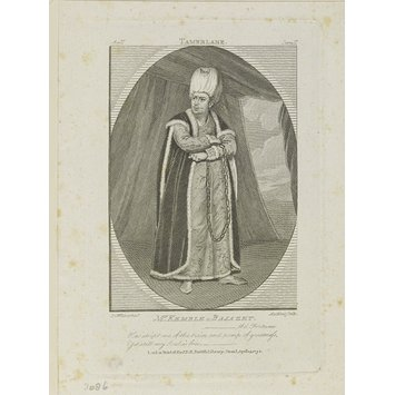 Print - Mr. Kemble as Bajazet in 'Tamerlane'