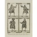 Mr. Garrick as King Lear, Macbeth, Richard III., and Hamlet (Print)