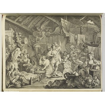 Print - Strolling Actresses Dressing in a Barn