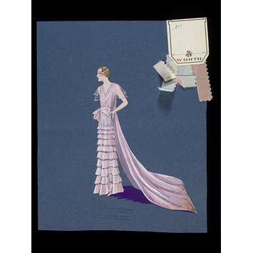Fashion design for a court dress and train