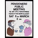 Pensioners' Public Meeting (Poster)