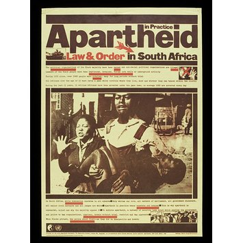 Poster - Apartheid in Practice: Law and Order