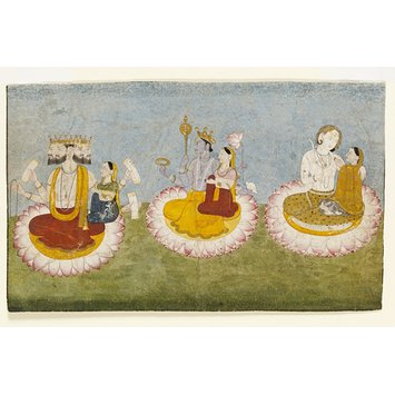 Painting - Brahma, Vishnu and Shiva