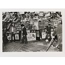 Untitled [Desmond's (standing with broom on left) Hip City records shop in Brixton South, London, damaged by National Front members] (Photograph)