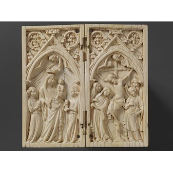 Diptych - The Virgin and Child and the Crucifixion