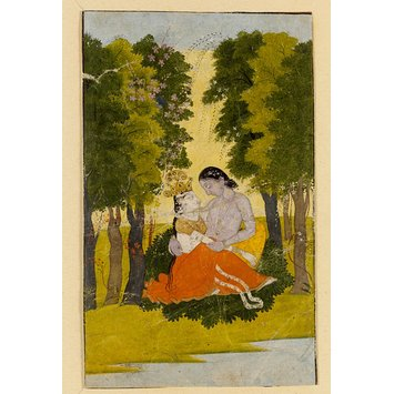 Painting - Radha and Krishna