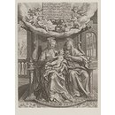 The Virgin and Child with Saint Anne (Print)