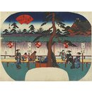 The Kameido Tenjin Shrine (Woodblock print)