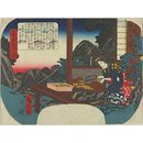 Kiso no Oroku Combs (Woodblock print)