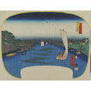 The Banks of the Sumida River (Woodblock print)