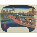 Sumiyoshi Bay at Naniwa (Woodblock print)