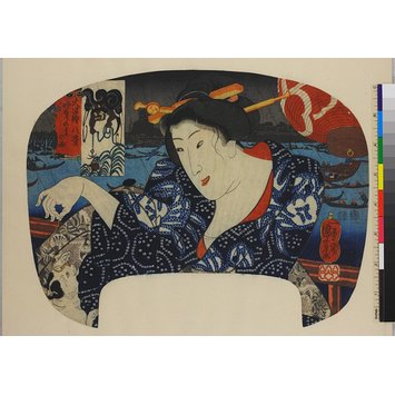 Woodblock print - Night, Rain and Thunder