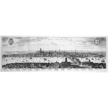 Print - View of London looking over Southwark to the North