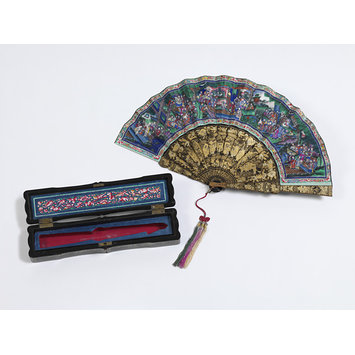silk fan and box