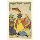 Rama, Sita, Lakshmana and Hanuman (Painting)