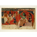 Rama and Sita (Scroll painting)