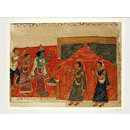 Rama, Sita and Lakshman (Scroll painting)
