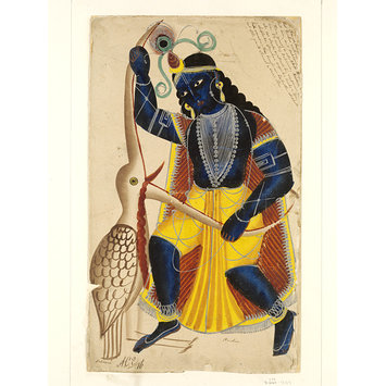 Painting - Krishna and Bakasura