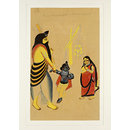 Krishna, Narada and Jasoda (Painting)