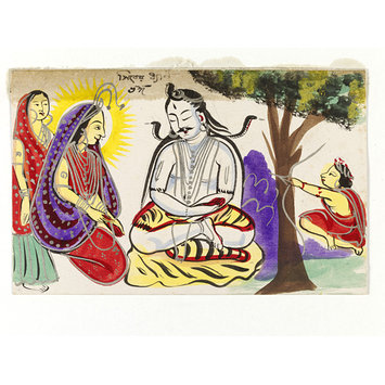 Painting - Kama and Shiva