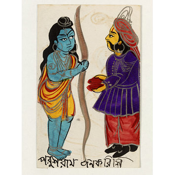Painting - King Janaka and Rama