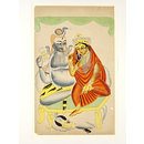 Shiva, Parvati and Nandi (Painting)