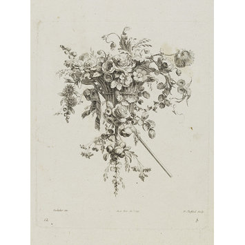 Design for a flower arrangement - Collections De Cul de Lampes et Fleurons