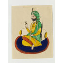 One of five drawings of Sikh heroes (Painting)