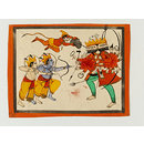 Rama and Lakshman fighting Ravana with Hanuman (Drawing)