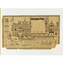 The Golden Temple at Amritsar (Woodcut)