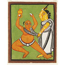 'The false Vaishnav' (Kalighat painting)