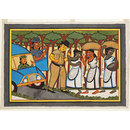 The Policeman's bribe (Kalighat painting)