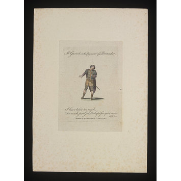 Print - Mr Garrick in the character of Periander