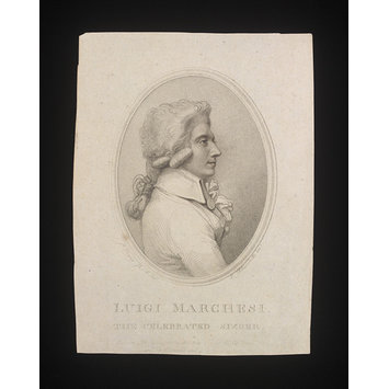Print - Luigi Marchesi/The Celebrated Singer