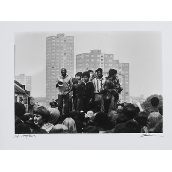 Photograph - Darcus Howe, Anti-National Front Demonstration, Lewisham