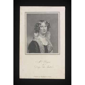 Print - Mrs Orger of Drury Lane Theatre