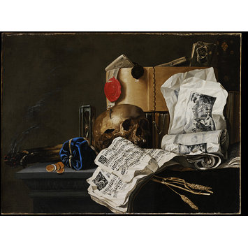 Oil painting - <i>Vanitas</i> Still Life