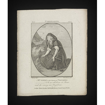 Print - Mrs Yates in the character of Volumnia