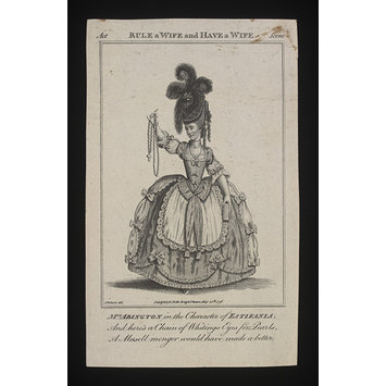 Print - Mrs. Abington in the character of Estleania