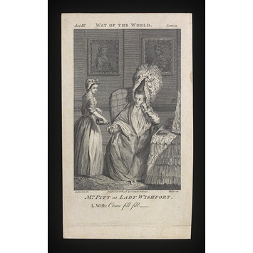 Print - Mrs Pitt as Lady Wishfort
