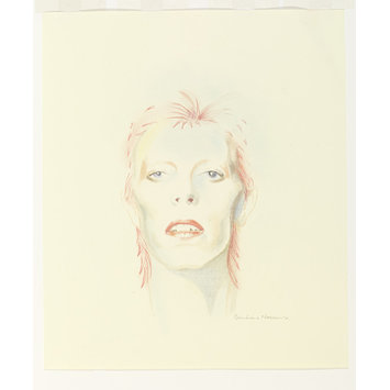 Portrait drawing - David Bowie Then: 1973