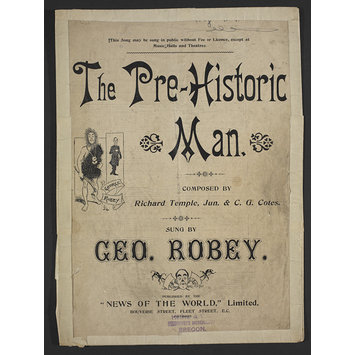 Sheet Music - The Pre-Historic Man