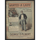 Wanted a lady (Sheet Music)
