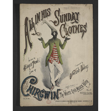 Sheet music - All In His Sunday Clothes