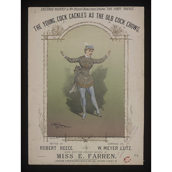 Sheet music - The Young Cock Cackles As The Old Cock Crows