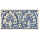 Ornamental design in blue and white for a frieze (drawing)