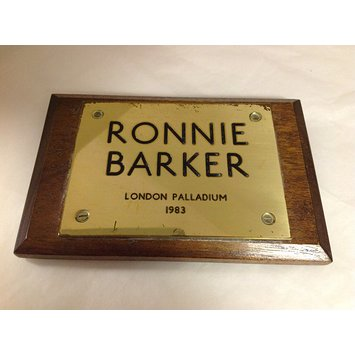 Plaque - Commemorative plaque for The Two Ronnies stage show at the London Palladium