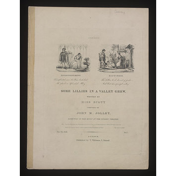 Sheet Music - Some Lillies In a Valley Grew