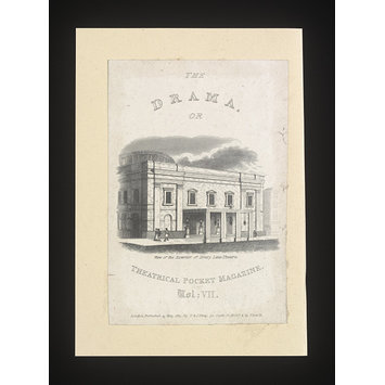 Print - View of the exterior of Drury Lane Theatre